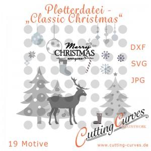 Plotterdatei Classic Christmas