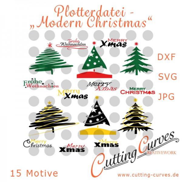 """Cover Plotterdatei """"Modern Christmas"""""""