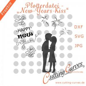 Plotterdatei New-Years-Kiss-Cover