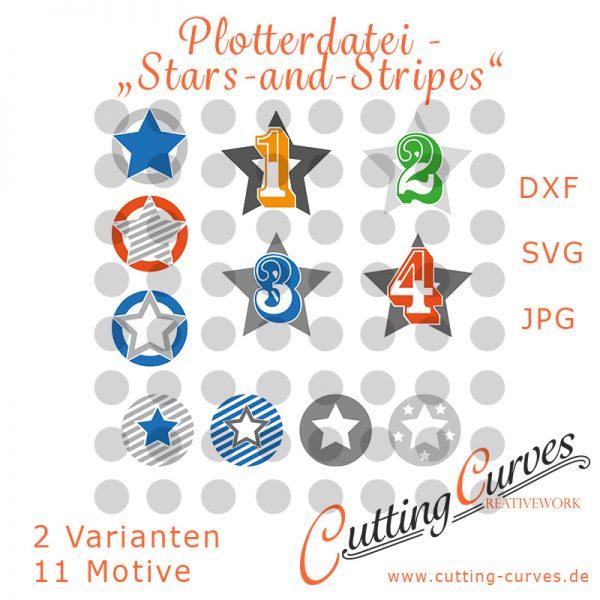 "Plotterdatei ""Stars-and-Stripes"""