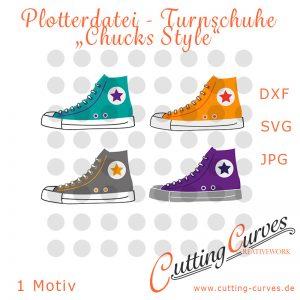 """Plotterdatei Turnschuhe """"Chucks Style"""""""